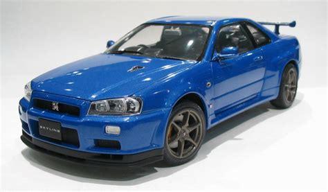 Ebbro Nissan Skyline Gt R R34 Daishin N1 ebbro 24016 nissan skyline gt r bnr 34 nissan blue 1 24