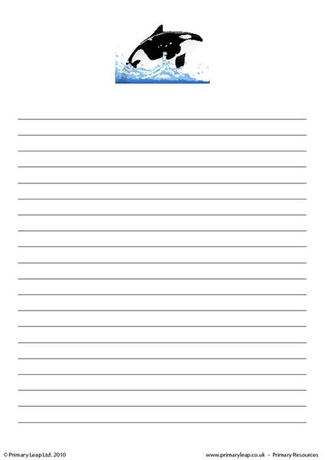 animal border writing paper animal writing paper search results calendar 2015