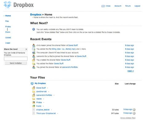 dropbox old version dropbox remote backup with version control david herrold