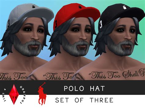 Content Cap the sims 4 front facing fitted polo hats for sims