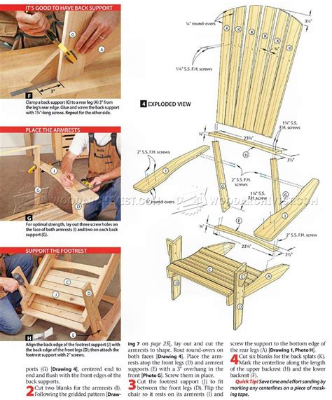 Adirondack Stool Plans by Plans For Wooden Outdoor Chairs