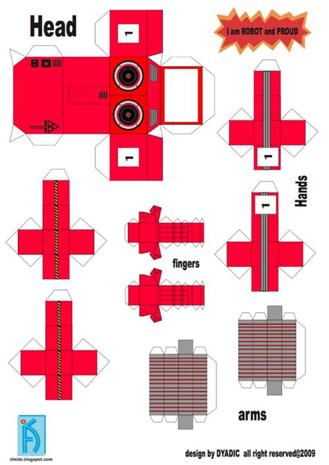 printable paper robot template papercraft robot template cake ideas and designs