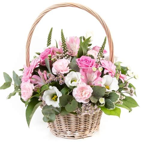 Funeral Baskets by Pink Basket Funeral Flowers