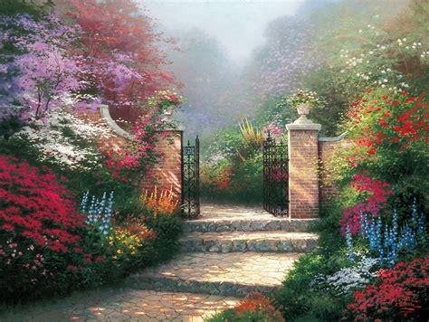 victorian garden thomas kinkade studios