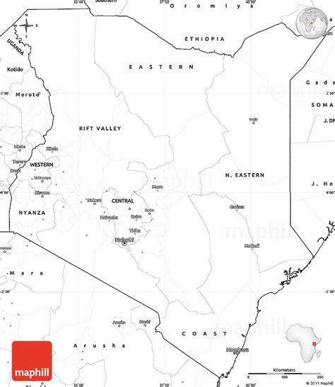 printable map kenya blank simple map of kenya