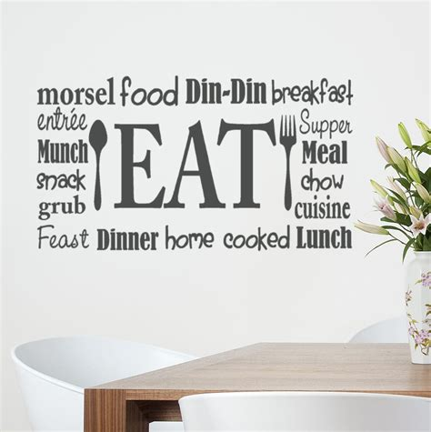 wall lettering stickers kitchen wall decal eat sign vinyl lettering fork and