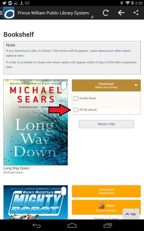 format ebook windows phone how to read borrowed overdrive library ebooks on your