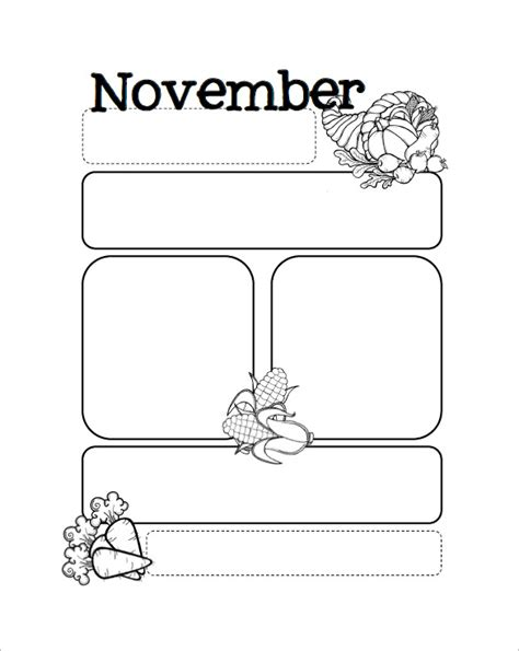 free november newsletter templates 13 printable preschool newsletter templates free word