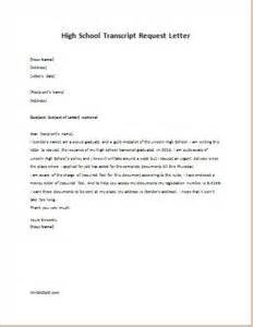 High School Transcript Request Template by How To Write A High School Transcript Request Letter