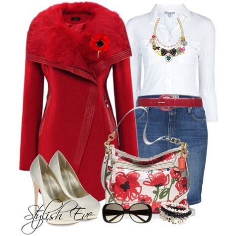 Buy Stylish Eve Clothes | red winter 2013 outfits for women by stylish eve stylish eve