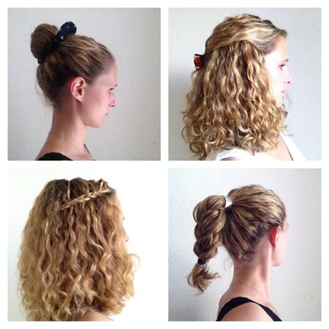 easy hairstyles for medium hair curly hair diy easy simple hairstyles without heat