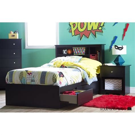 south shore vito mates bed with 3 drawers finishes south shore vito mates bed with 3 drawers in