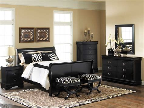 an amazing bed room with black bedroom furniture sets homedee
