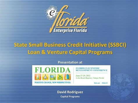 Best Mba Schools For Venture Capital by Ppt State Small Business Credit Initiative Ssbci Loan