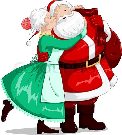 mrs claus shop joondalup prices a vector illustration of mrs claus kisses santa on cheek and hugs him for stock