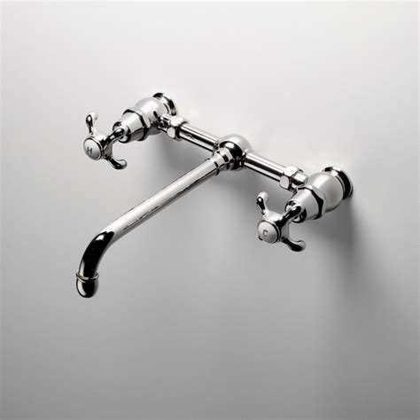 wall mount bridge lavatory faucet