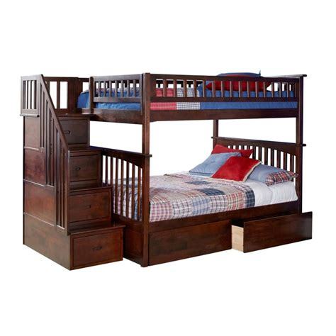 atlantic furniture columbia staircase full  full bunk bed ab