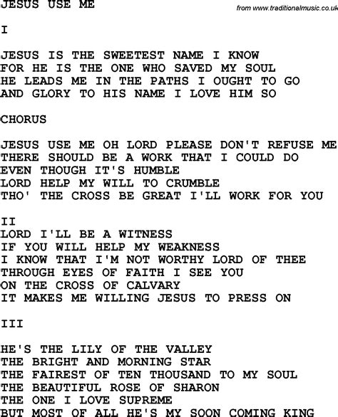country music jesus chords country southern and bluegrass gospel song jesus use me