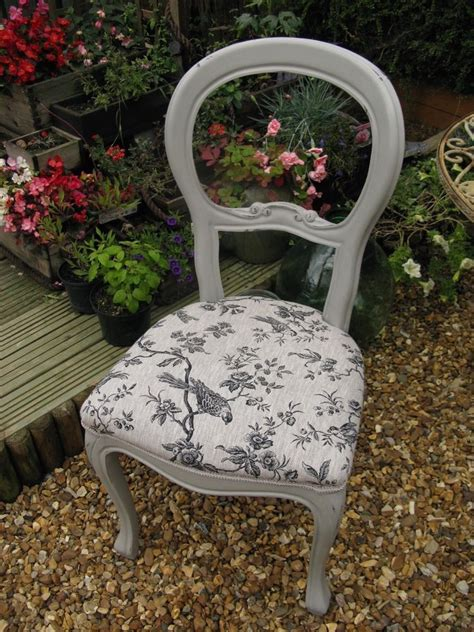 shabby chic bedroom chairs shabby chic balloon back bedroom dining chair
