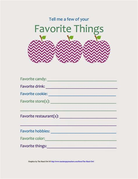 favorite things list template bybmg back to school hop take care of that