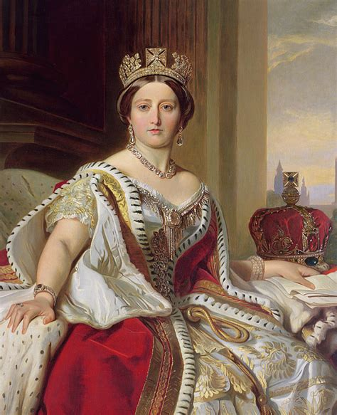 young queen victoria portrait of queen victoria painting by franz xavier