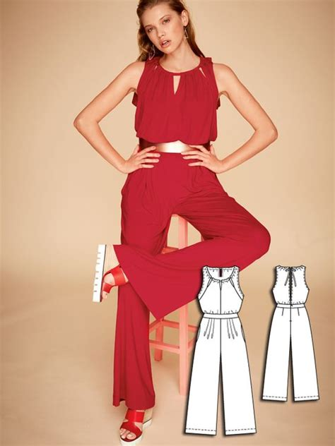 jumpsuit pattern burda open back jumpsuit 04 2016 112a sewing patterns for