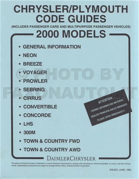 chrysler original parts 2000 mopar parts department management manual original