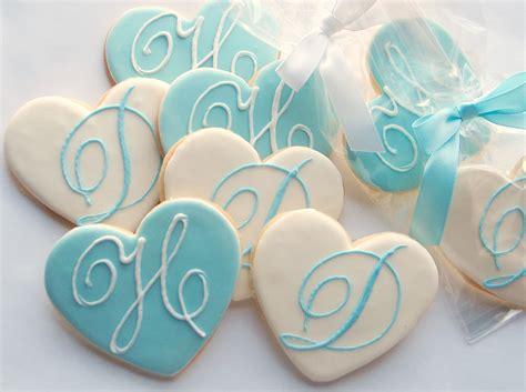 Wedding Cookie Ideas by Cookies On Wedding Cookies Monogram Cookies