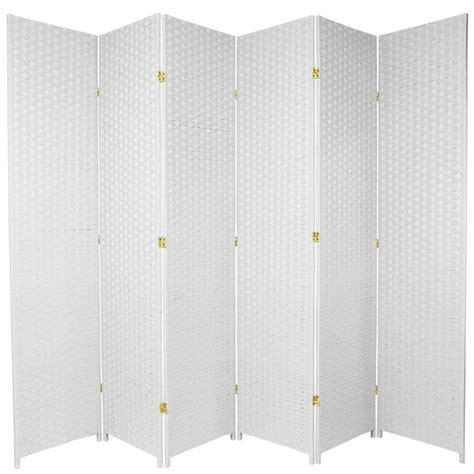 7ft room divider 7 ft white 6 panel room divider ss7fiber wht 6p the home depot