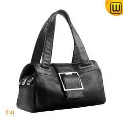 Cowhide Handbag Women Black Leather Handbag Cw209308