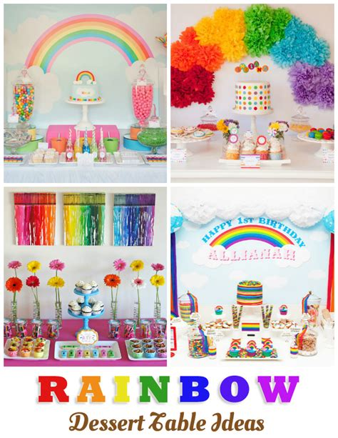Ice Cream Decorations 10 Gorgeous Rainbow Dessert Table Ideas One Charming Day