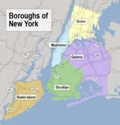new york map of boroughs