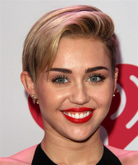 the name of mileys haircut miley cyrus short spiked punk miley cyrus short straight casual hairstyle dark blonde