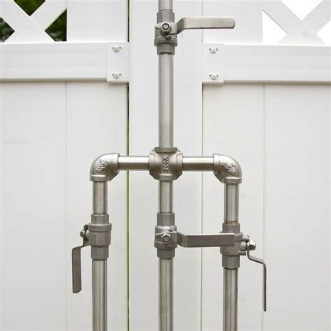 outdoor shower valves high low rugged outdoor shower remodelista