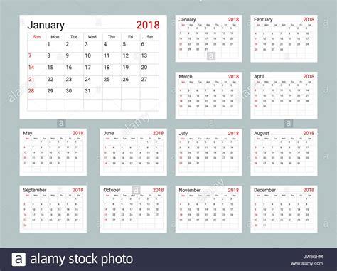 2018 Daily Calendar Template