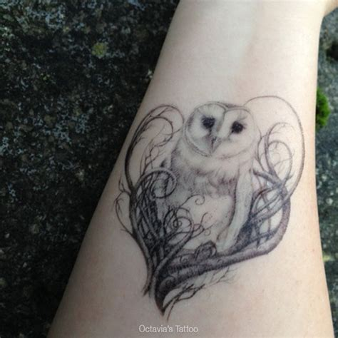 owl tattoo unterarm amazing white barn owl tattoo on forearm