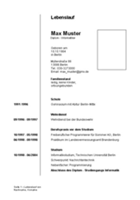 Lebenslauf Muster Doc Lebenslauf Hochschulabsolventen Vorlage Muster Zum Herunterladen