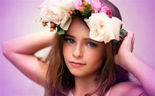 Cute Wallpapers For Kids cute child flowers hd wallpaper 7438