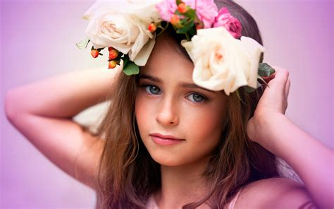 Cute Wallpapers For Kids cute child flowers wallpapers hd wallpapers