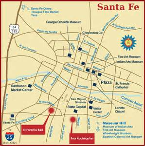 santa fe california map four kachinas location and directions