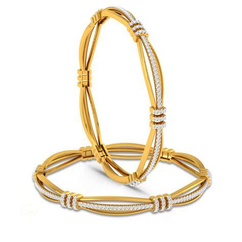 esquire diamond gold bangles charu jewels