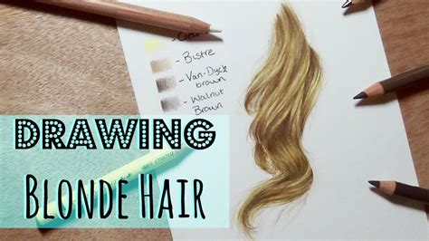 colored pencil hair drawing tutorial realistic hair in coloured pencil