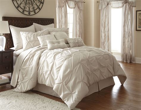 24 Piece Embellished Sand Queen Comforter Set