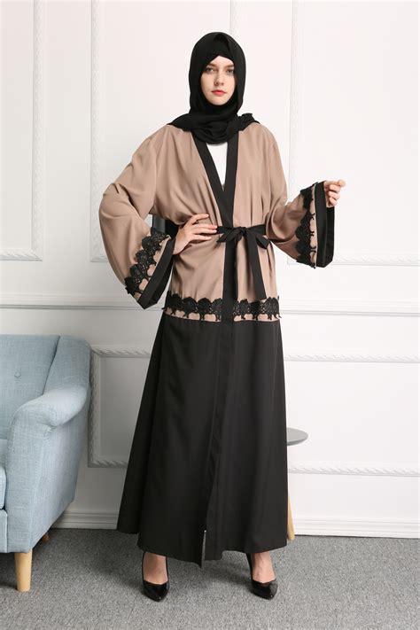 Jilbab Square Lace Katun Erow abaya kaftan jilbab cardigan islamic muslim dubai cocktail maxi dress ebay