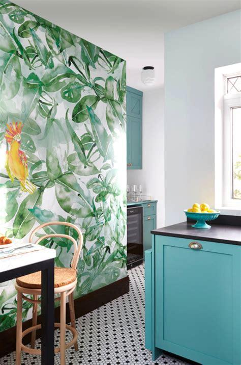 bold colour  wallpaper   kitchen