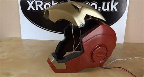 diy iron man helmet motorized faceplate design