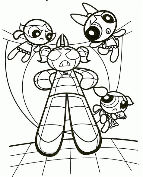 Free Printable Powerpuff Girls Coloring Pages For Kids Power Puff Coloring Sheets Printable