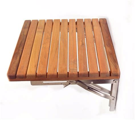 fold down teak shower bench teak 15 quot x 16 quot fold down shower bench wall mounted stool
