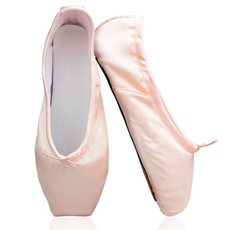 womens shoe pink satin ballet pointe shoes