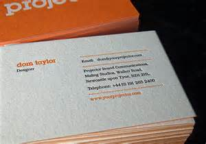 great business cards projector 20 great exles of letterpress business